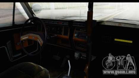 Ford Bronco 1982 Police para visión interna GTA San Andreas