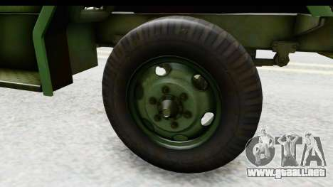 AM General M35A2 para GTA San Andreas vista hacia atrás