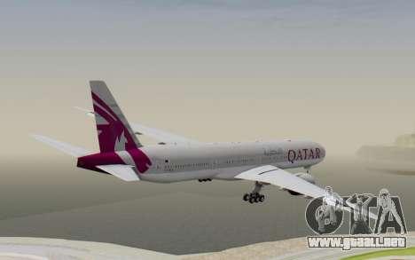 Boeing 777-300ER Qatar Airways v1 para la visión correcta GTA San Andreas