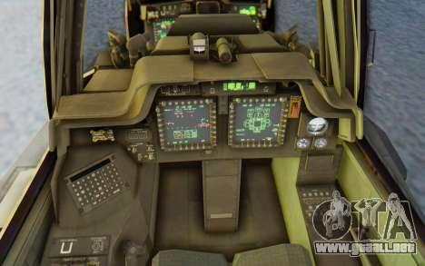 AH-64 Apache Marines para visión interna GTA San Andreas
