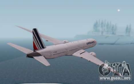 Boeing 777-300ER France Air para la visión correcta GTA San Andreas