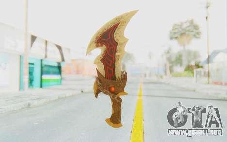 Blade of Athena para GTA San Andreas segunda pantalla