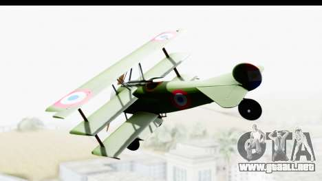 Fokker DR1 Old Paraguay Air Force para GTA San Andreas left