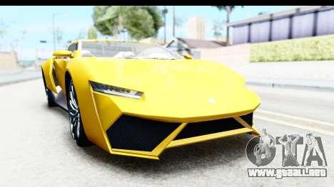 GTA 5 Pegassi Reaper v2 IVF para GTA San Andreas vista hacia atrás