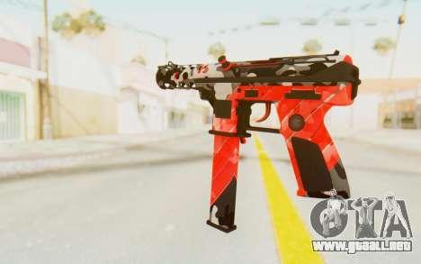 Tec-9 Neural Red para GTA San Andreas segunda pantalla
