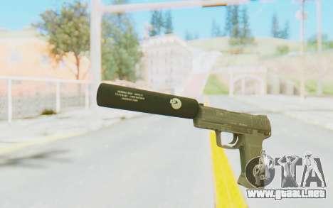 HK45 Silenced para GTA San Andreas segunda pantalla