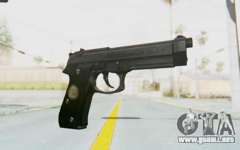 Tariq Iraqi Pistol Back v1 Black para GTA San Andreas