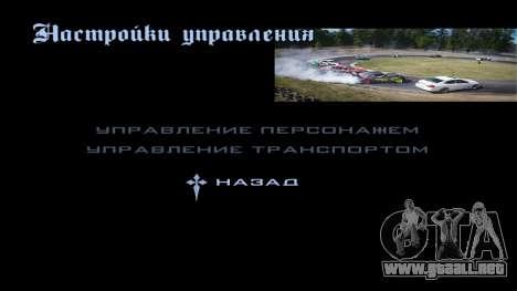 New menu para GTA San Andreas sexta pantalla