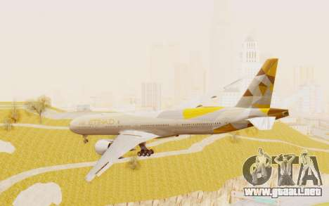 Boeing 777-300ER Etihad Airways para GTA San Andreas left