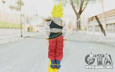 Dragon Ball Xenoverse Goku Yardrat Clothes SSJ para GTA San Andreas tercera pantalla