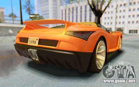GTA 5 Grotti Cheetah IVF para la visión correcta GTA San Andreas