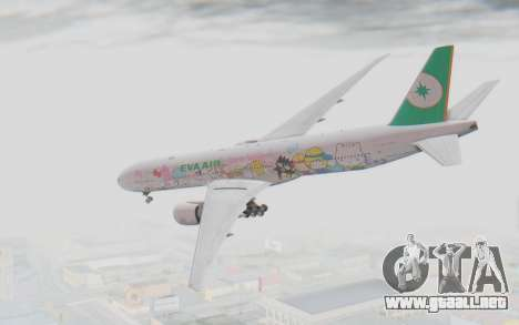 Boeing 777-300ER Eva Air v1 para GTA San Andreas left