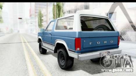 Ford Bronco 1980 para GTA San Andreas left
