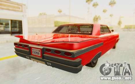 GTA 5 Declasse Voodoo Alternative v2 para GTA San Andreas left