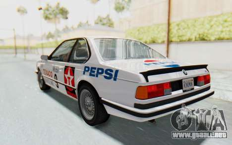 BMW M635 CSi (E24) 1984 HQLM PJ2 para la vista superior GTA San Andreas