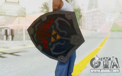 Hylian Shield HD from The Legend of Zelda para GTA San Andreas tercera pantalla