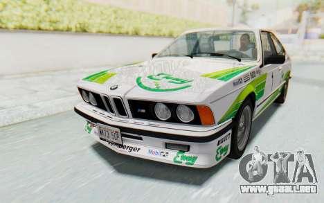 BMW M635 CSi (E24) 1984 HQLM PJ2 para el motor de GTA San Andreas