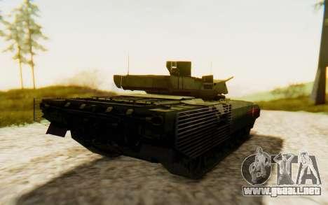 T-14 Armata para GTA San Andreas vista posterior izquierda