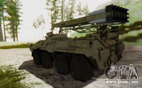 MGSV Phantom Pain ZHUK APC Tank para GTA San Andreas left