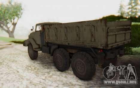 MGSV Phantom Pain Zi-GRA 6T Truck para GTA San Andreas left