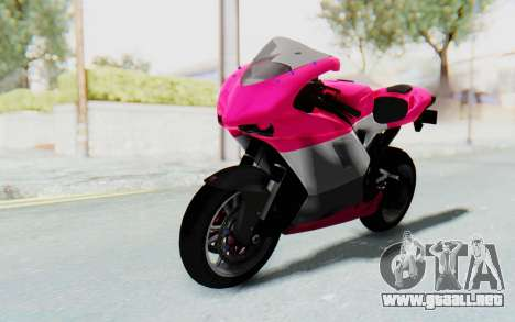 Ducati 1098R High Modification para GTA San Andreas vista posterior izquierda