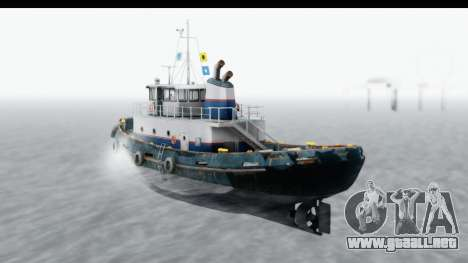 GTA 5 Buckingham Tug Boat v2 para GTA San Andreas left