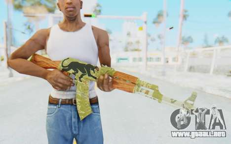 CS:GO - AK-47 Jaguar para GTA San Andreas tercera pantalla