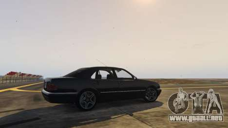 GTA 5 Mercedes-Benz W210 v1.0 vista lateral izquierda trasera