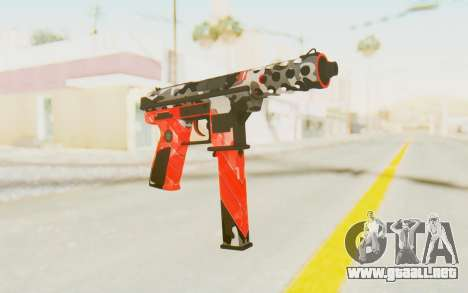 Tec-9 Neural Red para GTA San Andreas