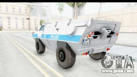 Hermelin TM170 Polizei para GTA San Andreas left