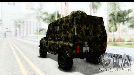 UAZ-469 de la policía Militar de Serbia para GTA San Andreas left