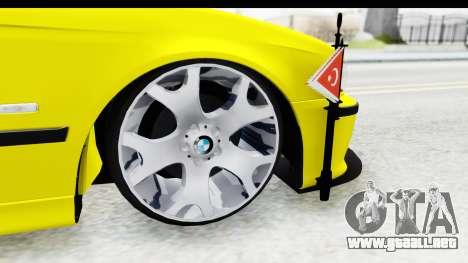 BMW M5 E39 para GTA San Andreas vista hacia atrás