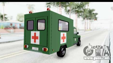 Mercedes-Benz Wolf Vojno Ambulantno Vozilo para GTA San Andreas left
