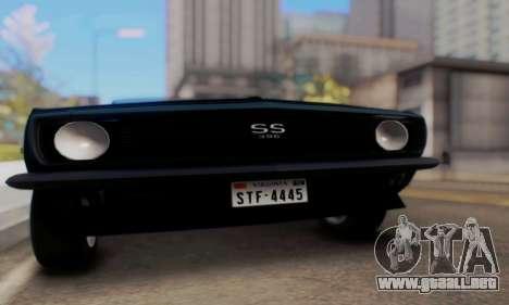 Chevrolet 369 Camaro SS para la visión correcta GTA San Andreas