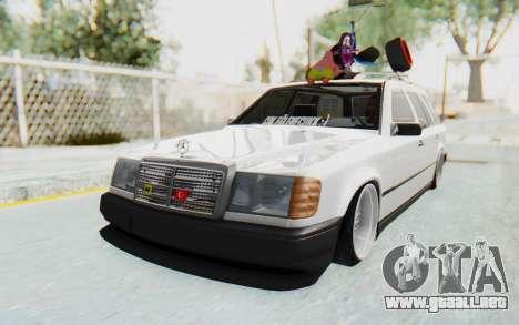 Mercedes-Benz W124 Stance Works para la visión correcta GTA San Andreas