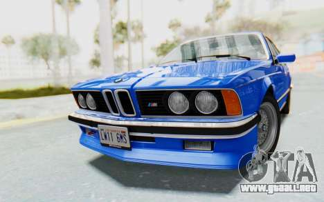 BMW M635 CSi (E24) 1984 HQLM PJ1 para la visión correcta GTA San Andreas