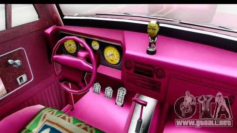 GTA 5 Vapid Slamvan Custom IVF para visión interna GTA San Andreas