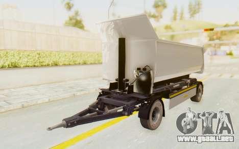 MAN TGA Energrom Edition Trailer v2 para GTA San Andreas vista posterior izquierda