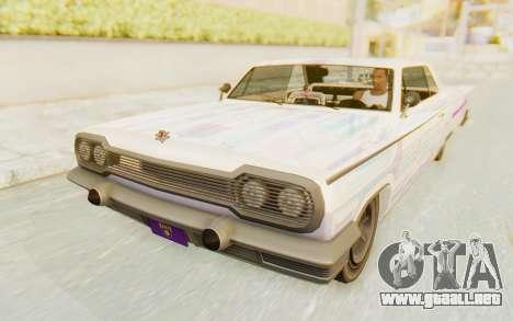 GTA 5 Declasse Voodoo Alternative v2 para vista inferior GTA San Andreas