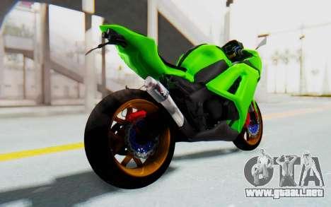 Kawasaki Ninja 250 Abs Streetrace para GTA San Andreas left