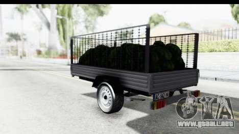 Volkswagen T4 Trailer para GTA San Andreas left