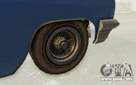 GTA 5 Declasse Voodoo Alternative v2 PJ para GTA San Andreas vista hacia atrás