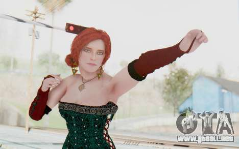 The Witcher 3 - Triss Merigold Dress para GTA San Andreas