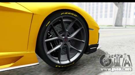Lamborghini Aventador LP700-4 LB Walk para visión interna GTA San Andreas