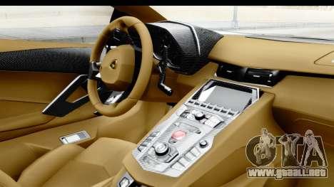 Lamborghini Aventador LP700-4 Novitec Torado para la visión correcta GTA San Andreas