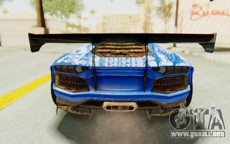 Lamborghini Aventador LP700-4 LB Walk Fenders para vista inferior GTA San Andreas
