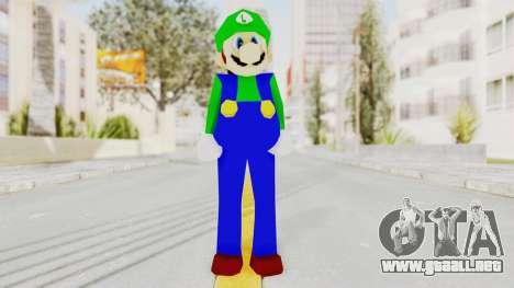 Luigi para GTA San Andreas segunda pantalla