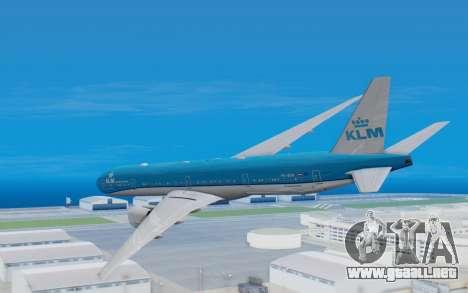 Boeing 777-300ER KLM - Royal Dutch Airlines v5 para la visión correcta GTA San Andreas