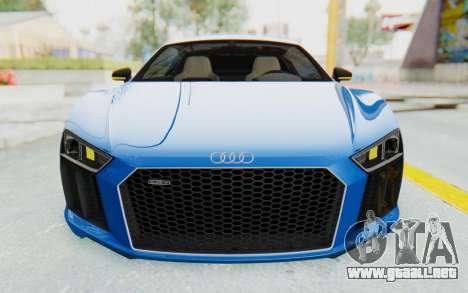 Audi R8 V10 Plus 2017 para vista inferior GTA San Andreas