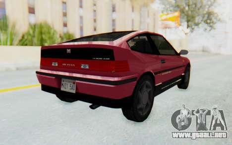 Dinka Blista Compact 1990 para la visión correcta GTA San Andreas